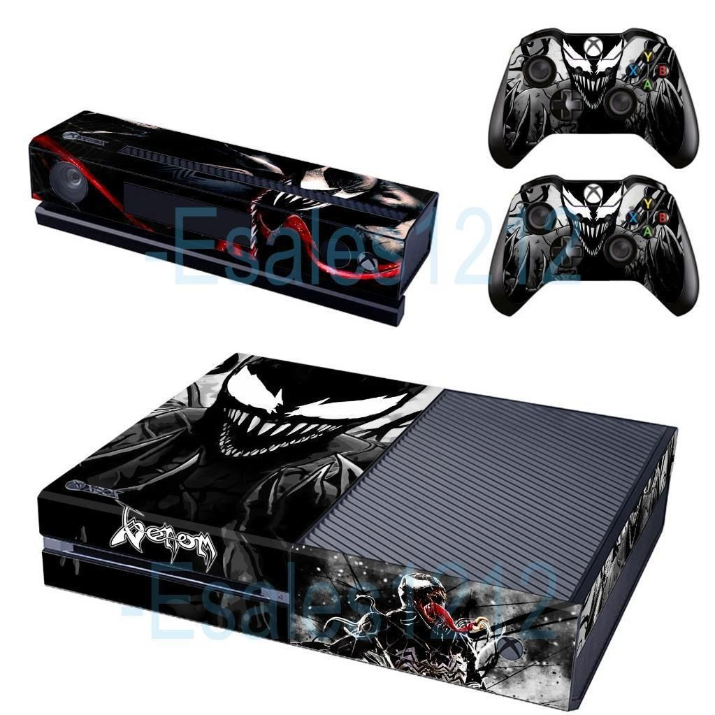 7c39a6ca856f1b  11.2 - Spider Man Venom Skin Decals Stickers For Xbox One Console Kinect 2  Controllers  ebay  Electronics