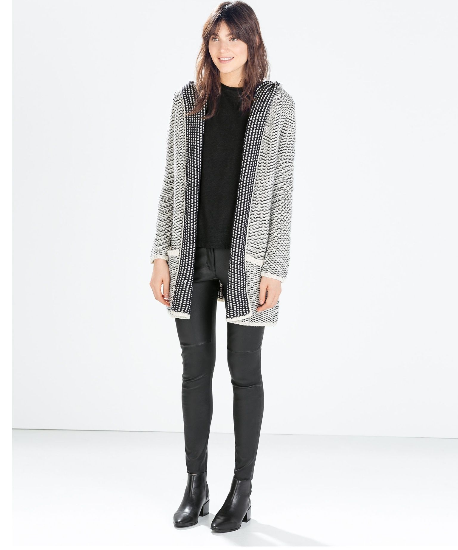 Zara KNIT HOODED CARDIGAN £35.99 | Fashion | Pinterest | Hooded ...
