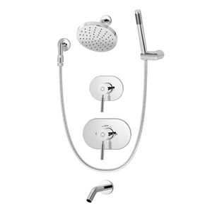 4306 Retrofit Cover Plate Shower Systems Hand Shower Tub And Shower Faucets