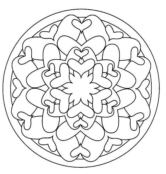 Mandalas para pintar corazon - Imagui | gráficos mandalas ...
