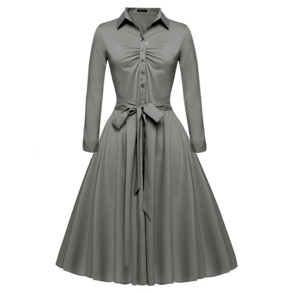 f2df3e9ed0bb Women Casual Shirt Dress Big Swing Elegant Yellow Dresses Gender  Women  Silhouette  A-