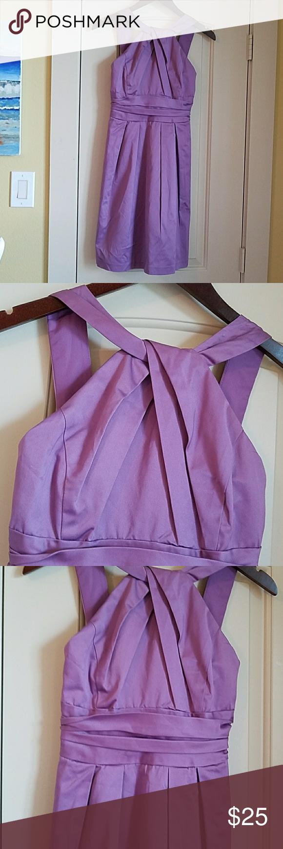 Euc davidus bridal dress size pretty purple fully lined dress