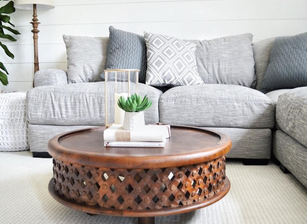 West Elm Coffee Table In Cozy Modern Living Space #westelm New Cozy Modern Living Room Design Decoration