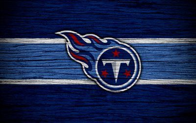 Tennessee Titans, NFL, American Conference, 4k, wooden texture, american football, logo, emblem, Nashville, Tennessee, USA, National Football League