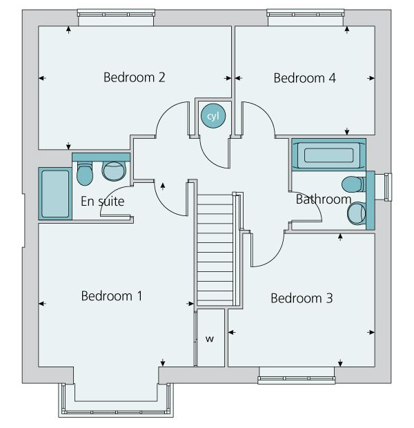 First Floor Plan Image Of The The Canterbury With Images