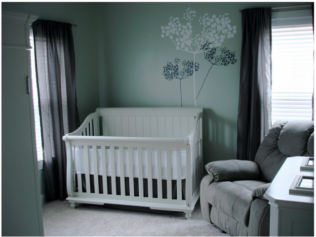 wander through our hip neutral baby room. get more decorating