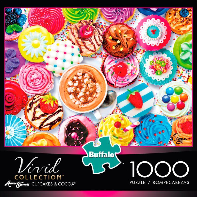 Vivid Cupcakes Cocoa 1000 Piece Jigsaw Puzzle Iamapuzzler