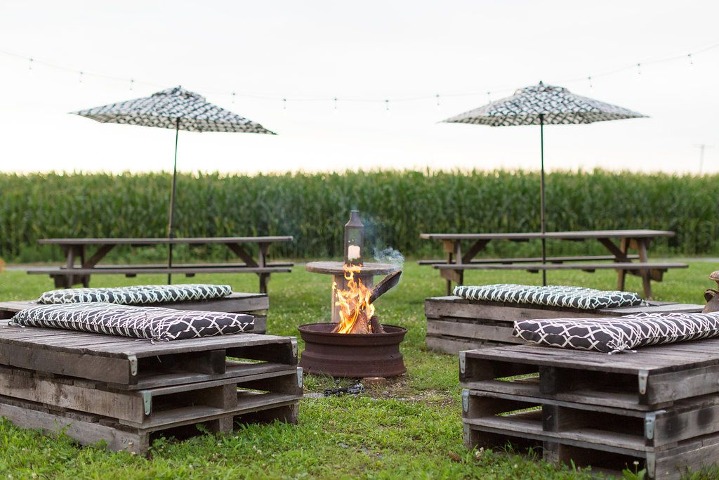 Host an after party near the fire pit at our SJ farm
