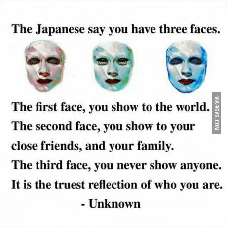Three faces. .