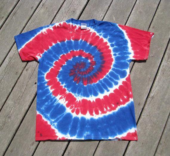 4th of July Color Block Tie Dye Swirl