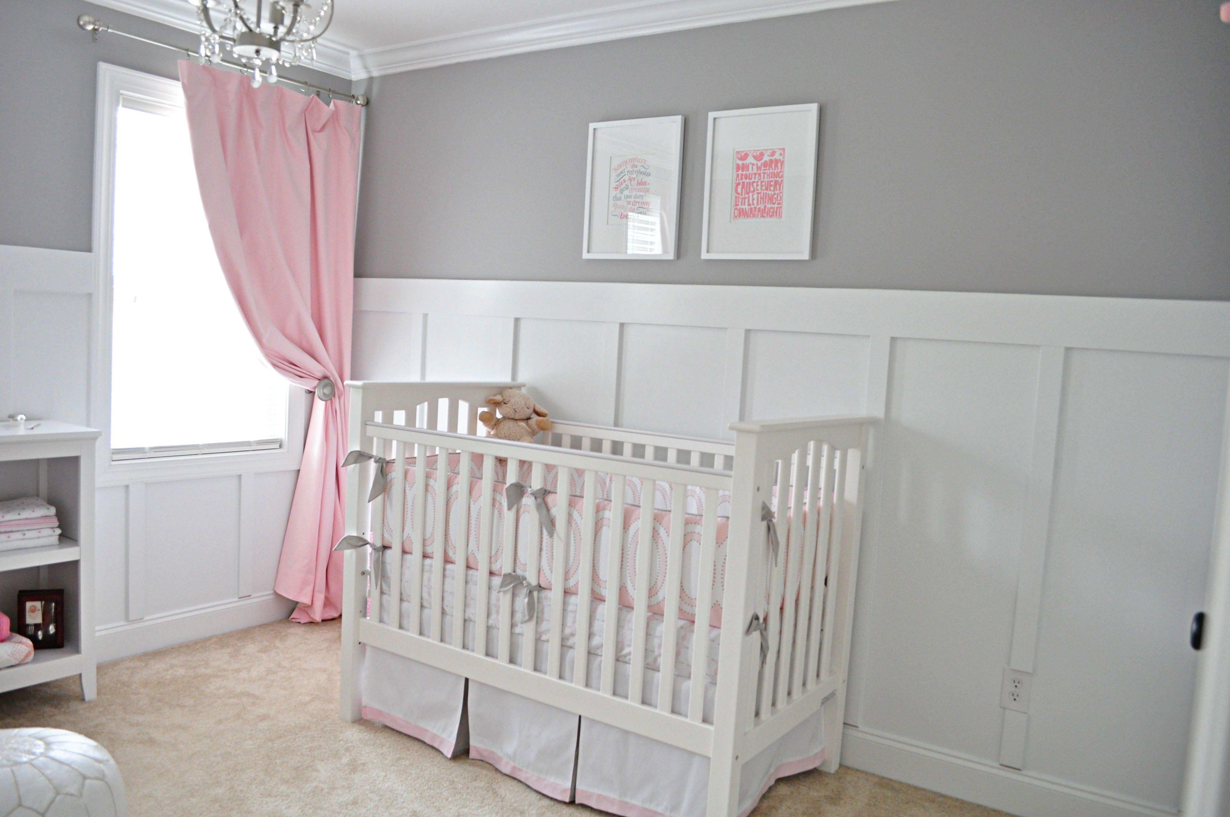 Ava S Sweet Gray And Pink Nursery Nursery Room Girl