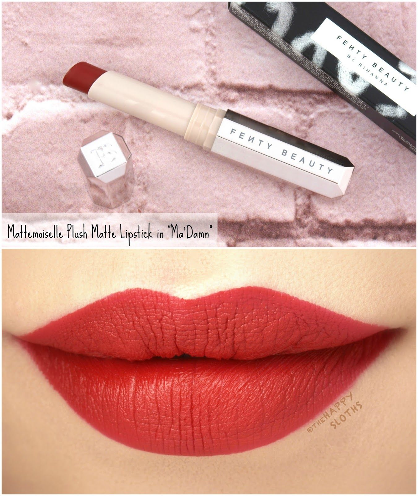 Fenty Beauty By Rihanna Mattemoiselle Plush Matte Lipstick Review And Swatches Lip Colors Fenty Beauty Matte Lipstick