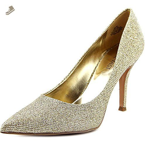 fcb9cf104d4 Nine West Women s Flax Metallic Dress Pump