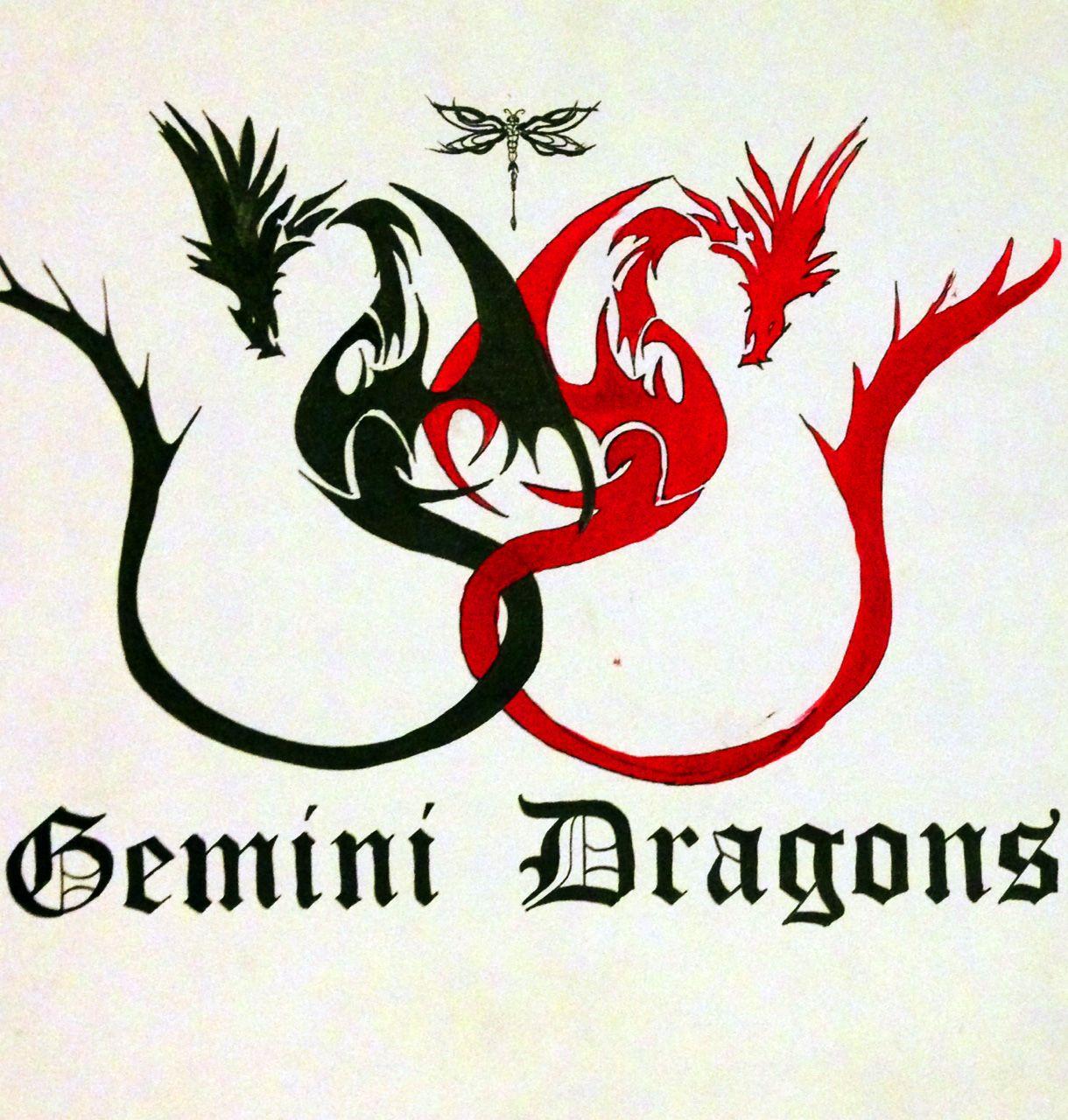 Gemini Dragons Tattoo Design Gemini Zodiac Tattoos Gemini Tattoo Gemini Tattoo Designs