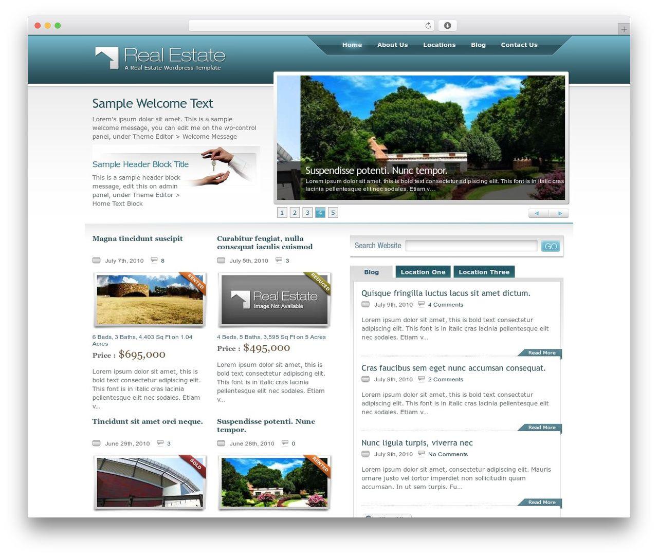 Real Estate Wordpress Theme real estate WordPress theme - chicagoland-leasing.com