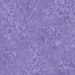 Essentials Scroll Cotton Fabric Purple Fabric Fabric