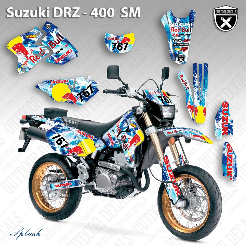 Advertisement eBay) SUZUKI DRZ 400SM GRAPHICS KIT DECALS