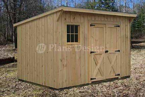 $1495 - 7\u0027 X 12\u0027 Modern Storage / Lean-To Garden Shed Plans, Design