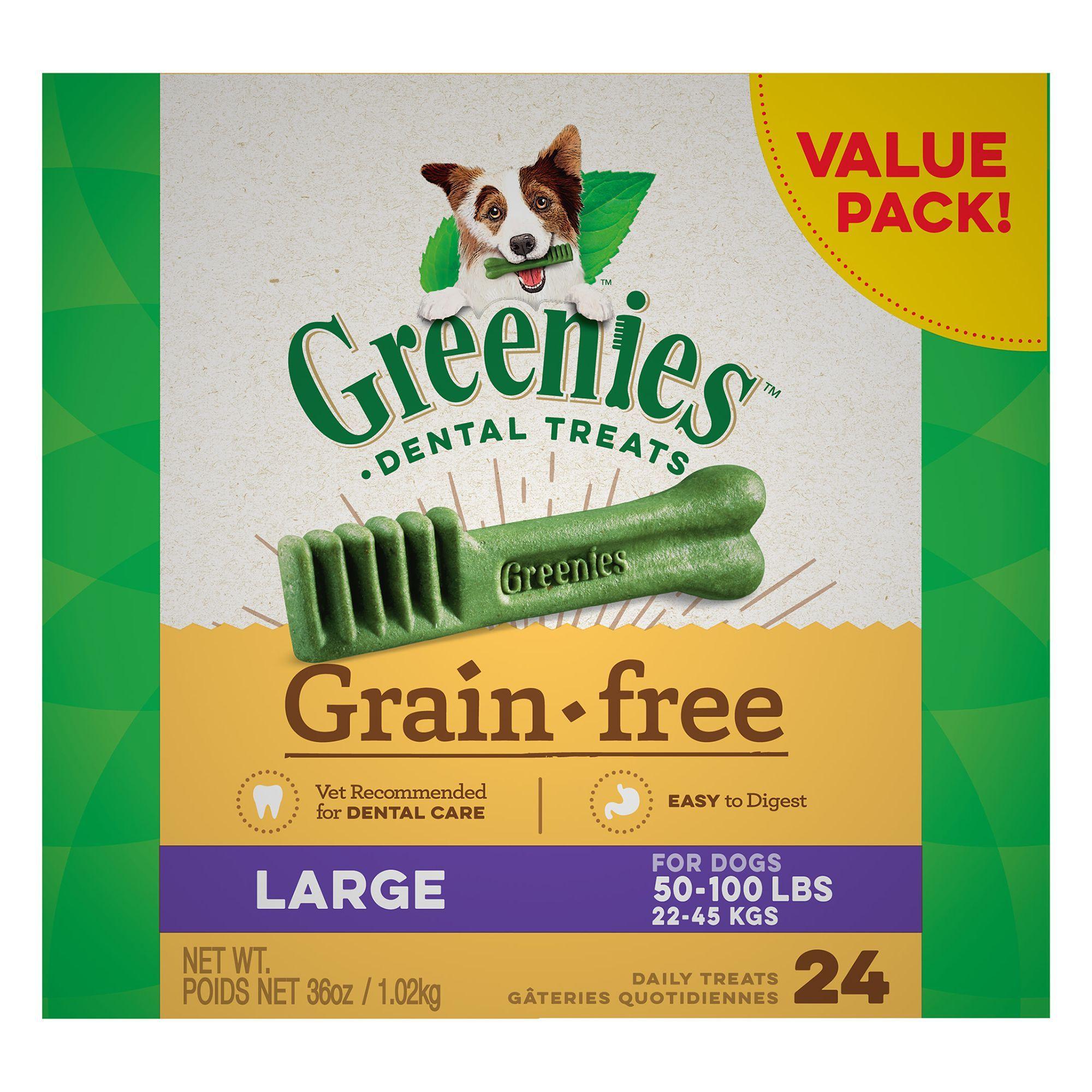 Greenies Grain Free Large Dental Dog Treats
