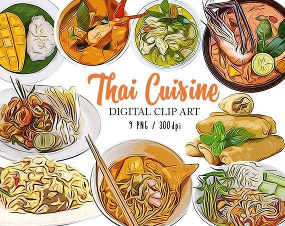Thai Food Clipart Thai Food Clipart Thailand Clip Art Food ...