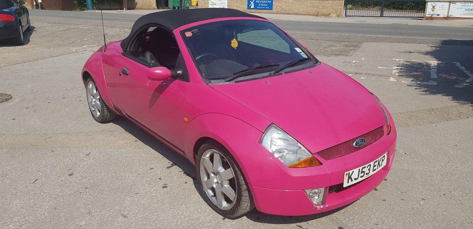 Ebay Pink Ford Ka Streetka Luxury Mot Leather   Convertible Spares Repair Look