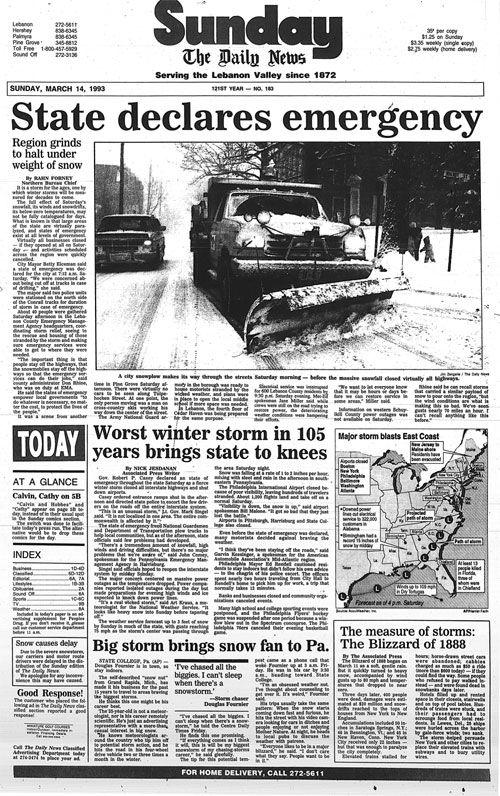 Lebanon Daily News March 14, 1993