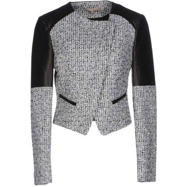 Michael Kors Blazer ($950) ❤ liked on Polyvore featuring outerwear, jackets, blazers, black, single breasted jacket, long sleeve blazer, zipper jacket, multi pocket jacket and zip blazer