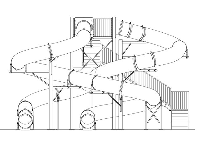Contour Drawings Of Water Slides Google Search Water Slides Coloring Pages Coaster Projects