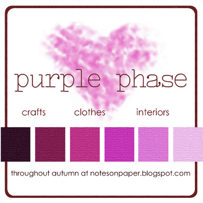 The introductory post to my blogging-theme for Autumn. #purplephase