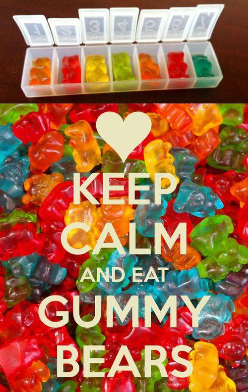 Keep Calm Get Well Soon Gummy Bear Pills Keep Calm Gummy
