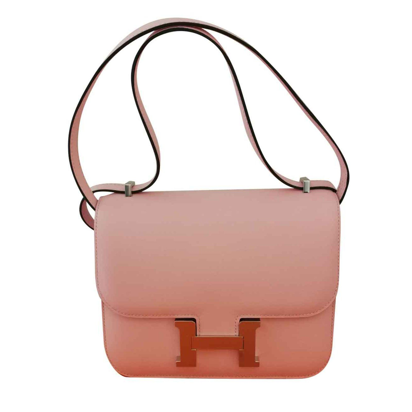 f7202a3dfbf3 Hermès Hermès constance mini Handbags Leather Pink ref.102811 - Joli Closet