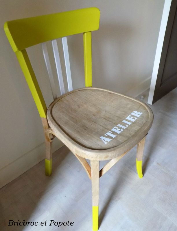 Chaise Bistrot Relooking meuble Pinterest
