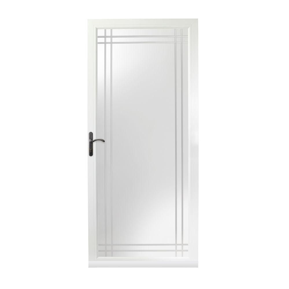 Lovely Laminated Security Glass Storm Door