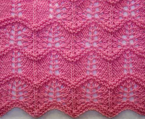 Wavy Knitting Stitch Pattern Mi Crochet Pinterest Knitting