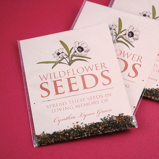 Scatter seeds and let the memory of your loved one live on in the - celebration of life templates