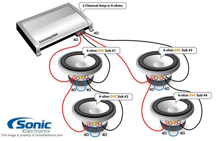 subwoofer wiring diagrams sonic electronix 728x465 jpeg rh pinterest com sonic electronix speaker wiring diagram sonic electronics wiring diagram