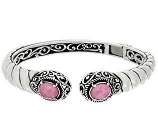 Carolyn Pollack Sterling Silver Gemstone Doublet Cuff Bracelet