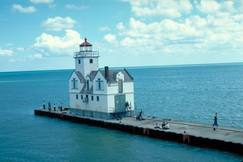 Take me to the light.  The Kewaunee Pierhead Lighthouse in Lake Michigan is still an active aid to navigation.