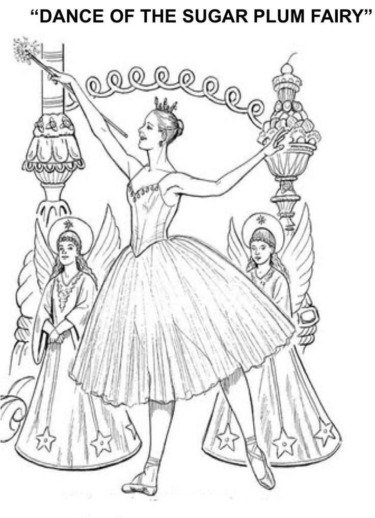 1st grade Nutcracker lesson Includes two coloring pages and a two - best of fairy ballerina coloring pages