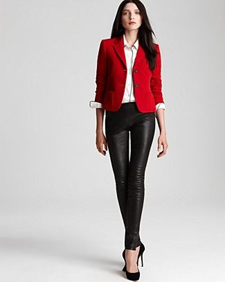 Theory Jacket, Leggings & more | Bloomingdale's. I have to tone up so I can wear leather leggings!