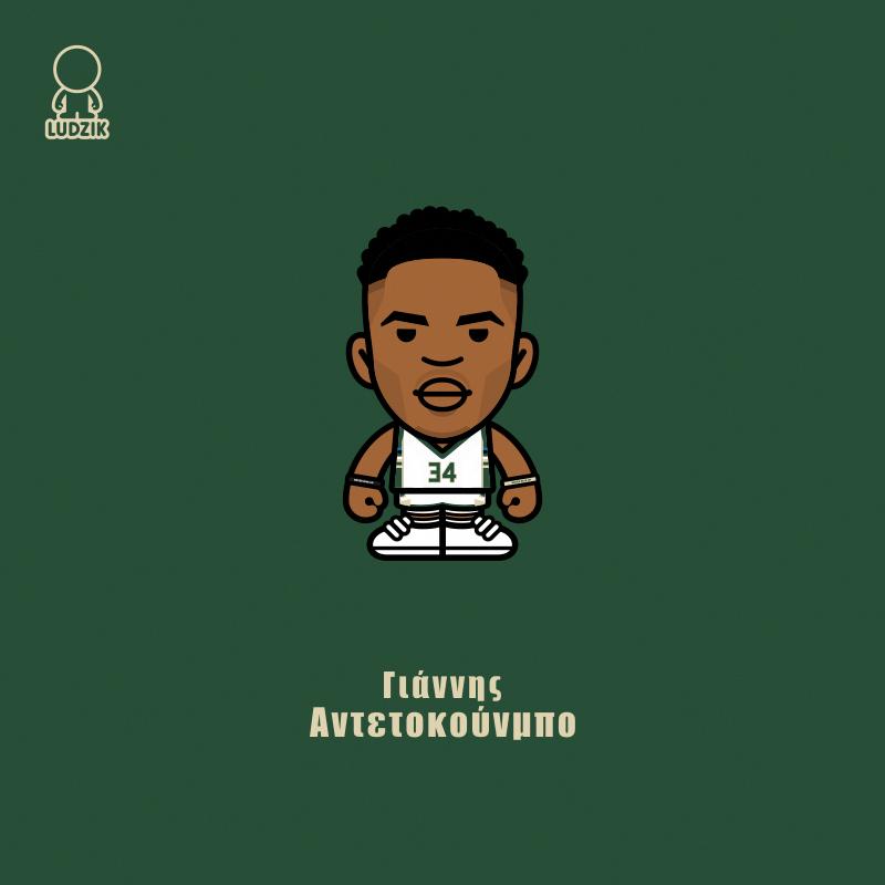 Giannis Antetokounmpo Milwaukke Bucks Ludzik Interestingsportsmemes Giannis Antetokounmpo Wallpaper Nba Basketball Art Cartoon Wallpaper