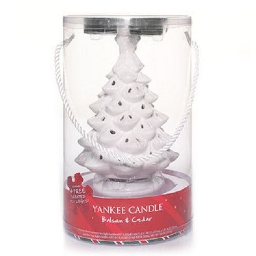 Yankee Candle Christmas Tree Luminary Tea Light Holder With 4 Candles Balsam Ced Yankeecandle Yankee Candle Christmas Yankee Candle Scented Tea Lights