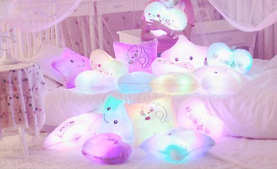 Light up pillows from Fashion Kawaii ♡ Price: $26.00   Kawaii ...