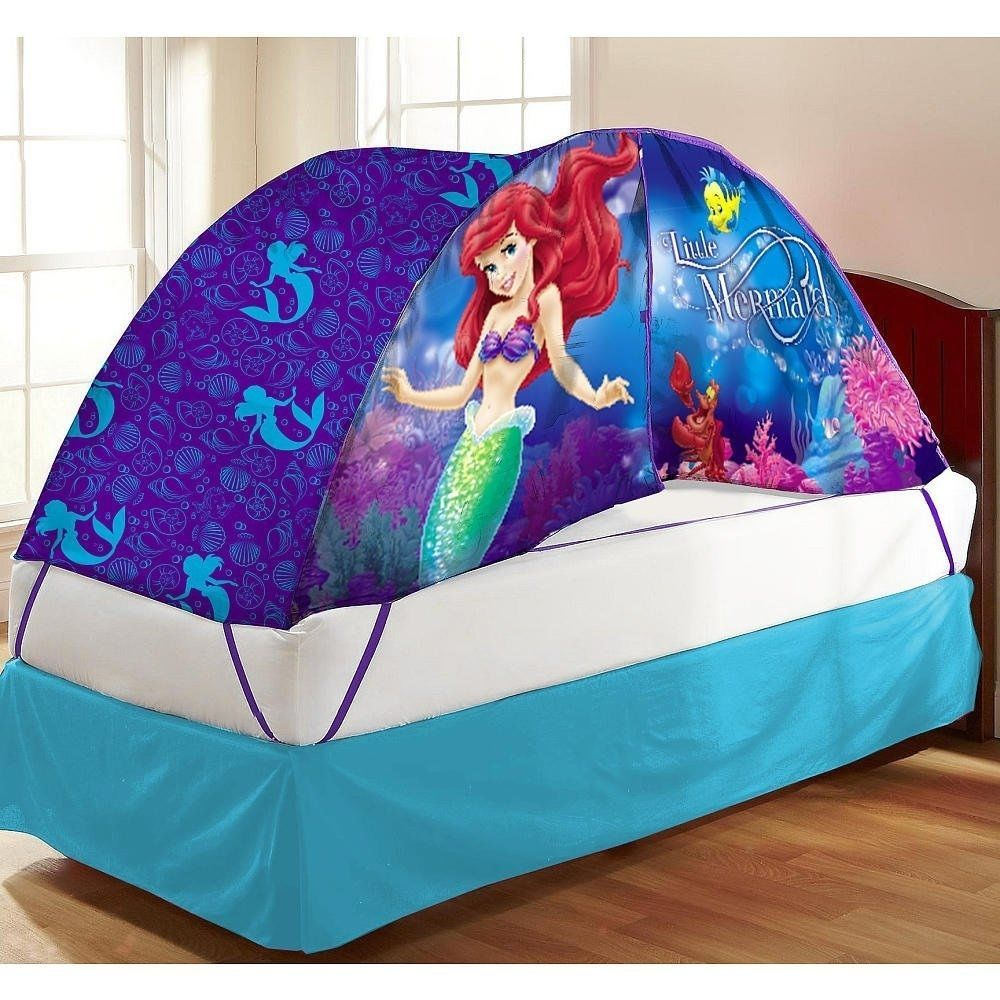 Disney Ariel Little Mermaid Twin Bed Canopy Tent Topper with Lights NEW & Disney Ariel Little Mermaid Twin Bed Canopy Tent Topper with ...