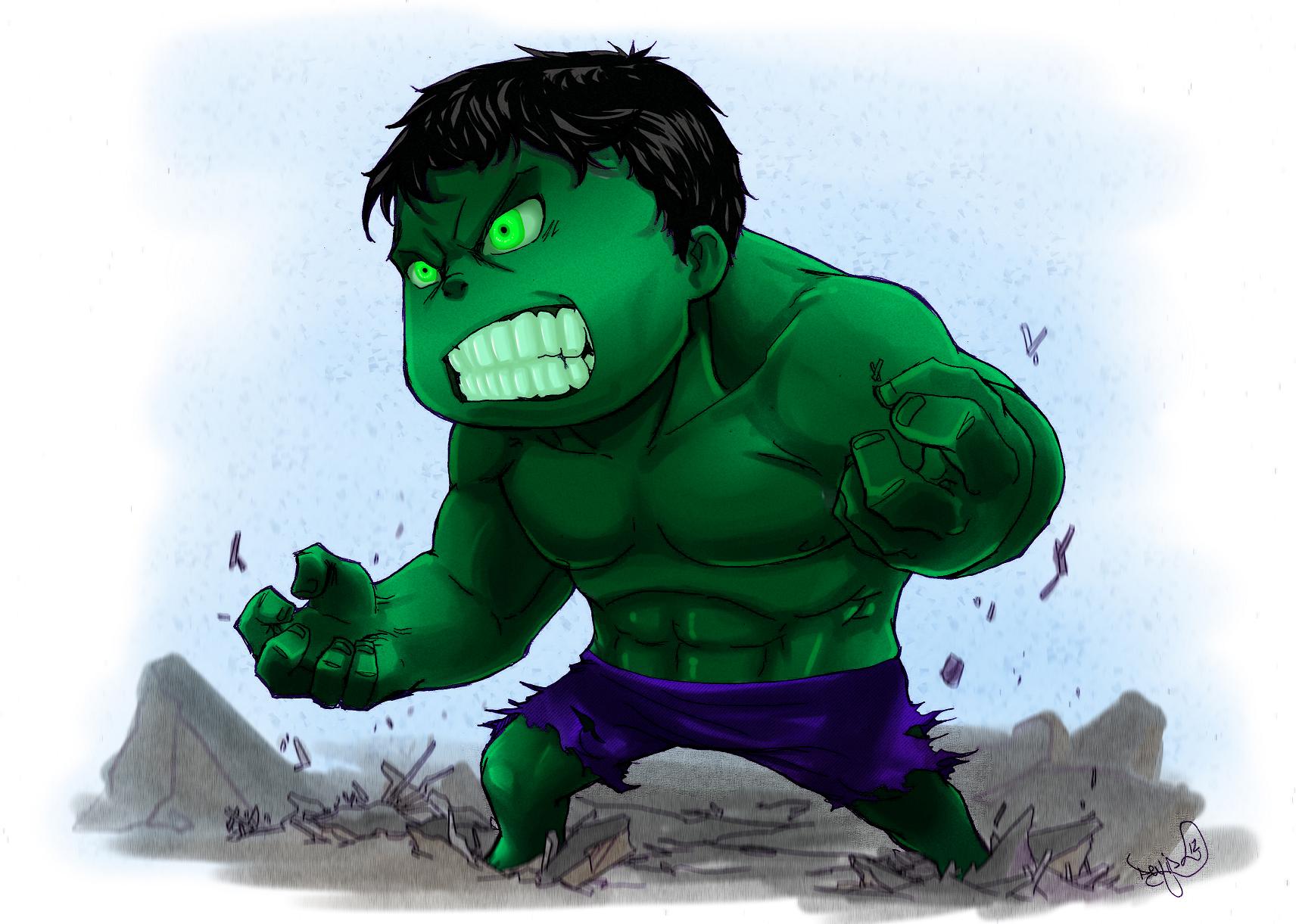 Hulk Smash Hulk Smash Cartoon Drawings Chibi