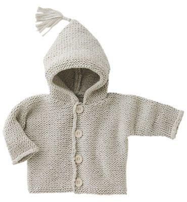 Modèle gilet à capuche en coton bébé  43ee6ea3bc0