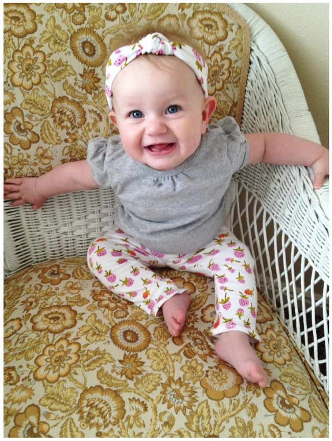 7468c22de489 DIY Baby Leggings / Knotted Turban Headband | Sewing Ideas | Diy ...