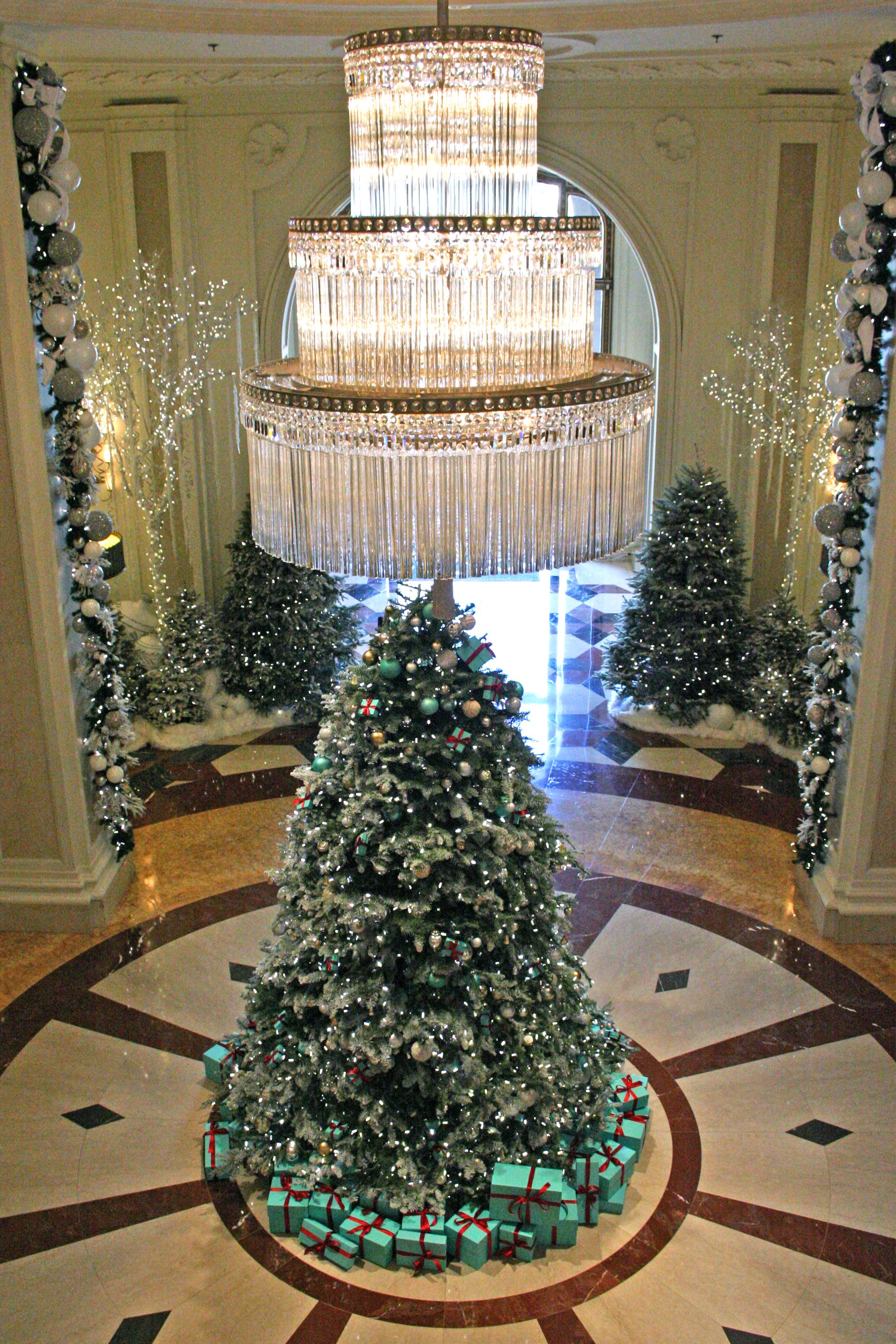 Lobby Christmas Trees Decorated