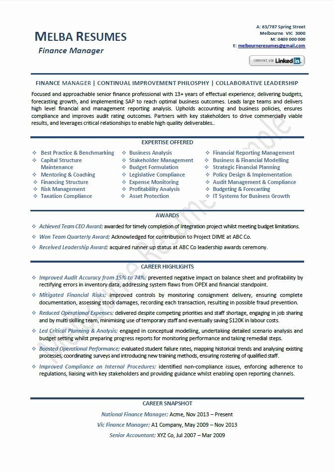 Resume writing services finance