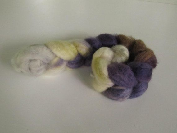 Hand Dyed Roving Bluefaced Leicester Wool - Story Book, Jacket & Trousers